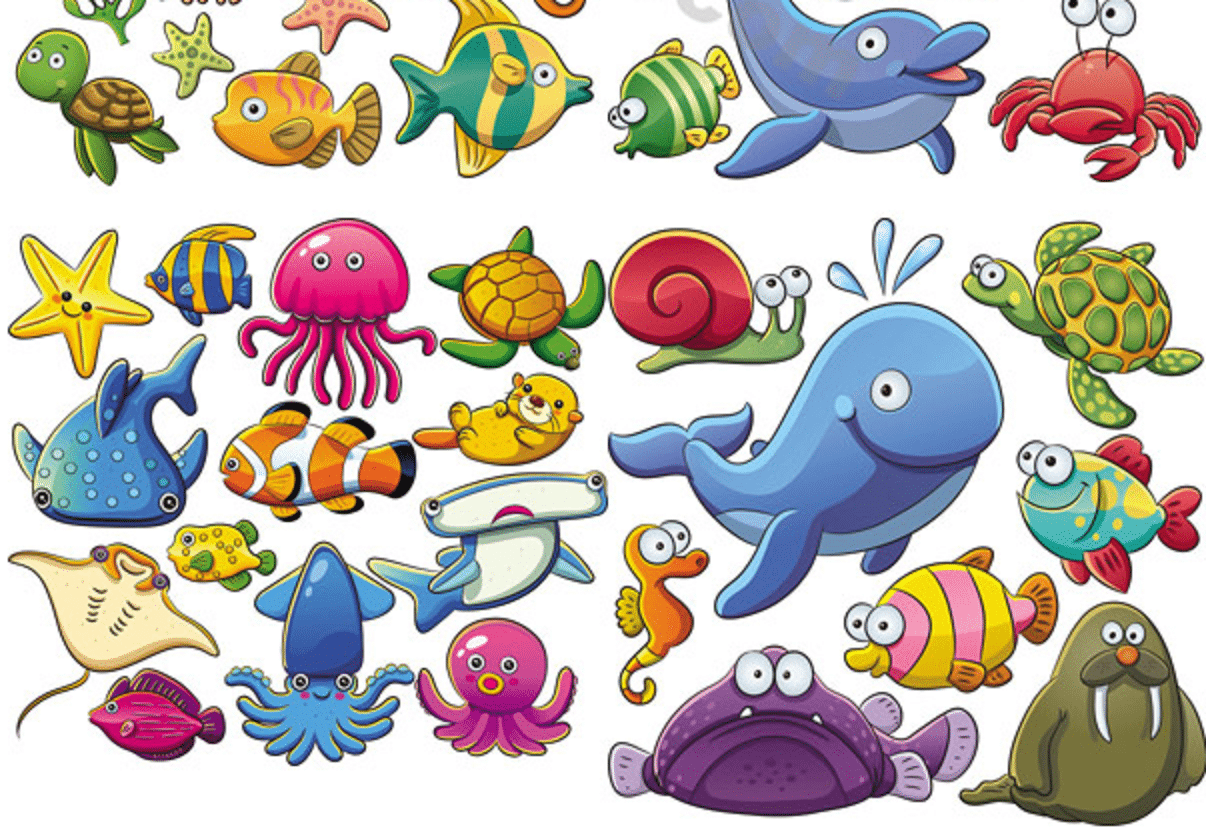 Desenhos De Animais Para Colorir: Imagens De Animais Marinhos Para Imprimir