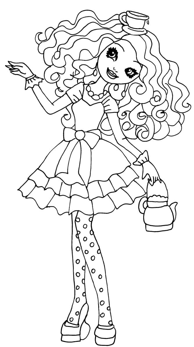 Madeline Hatter Desenhos Para Colorir Ever After High