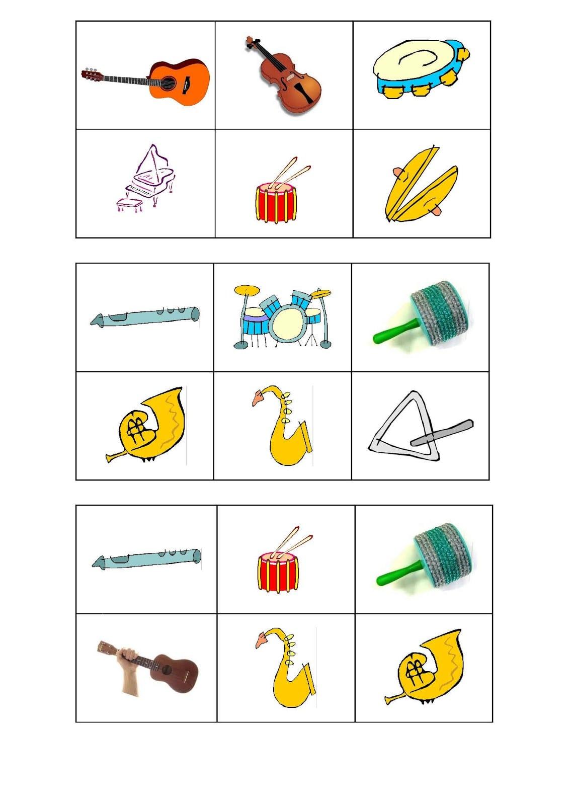 Educação Musical  Cartelas Para Bingo Musical