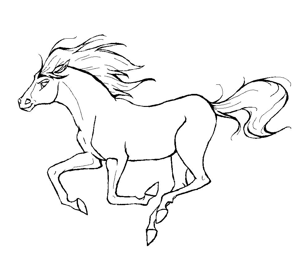 Cavalo Para Colorir – Pampekids Net