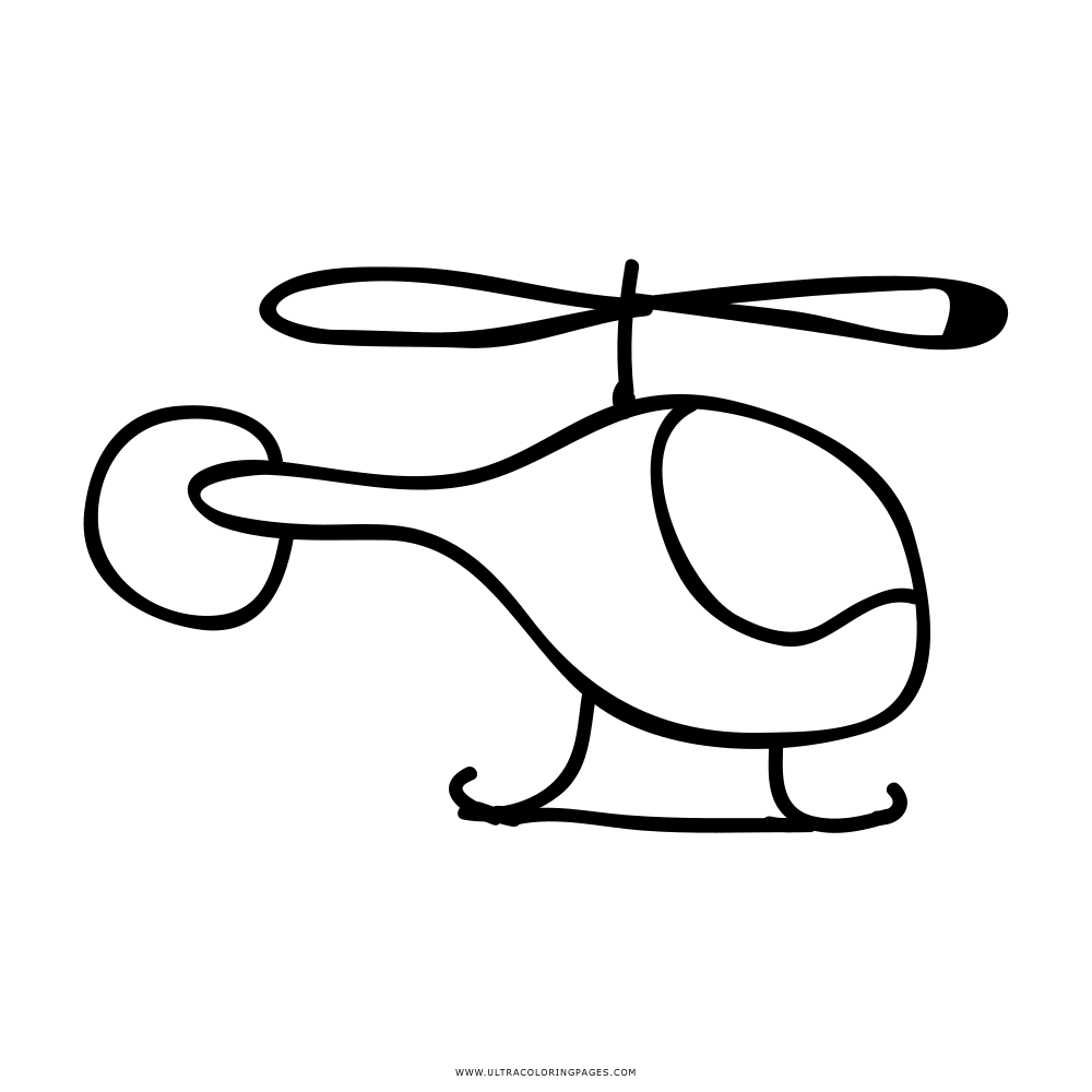 Helicóptero Desenho Para Colorir