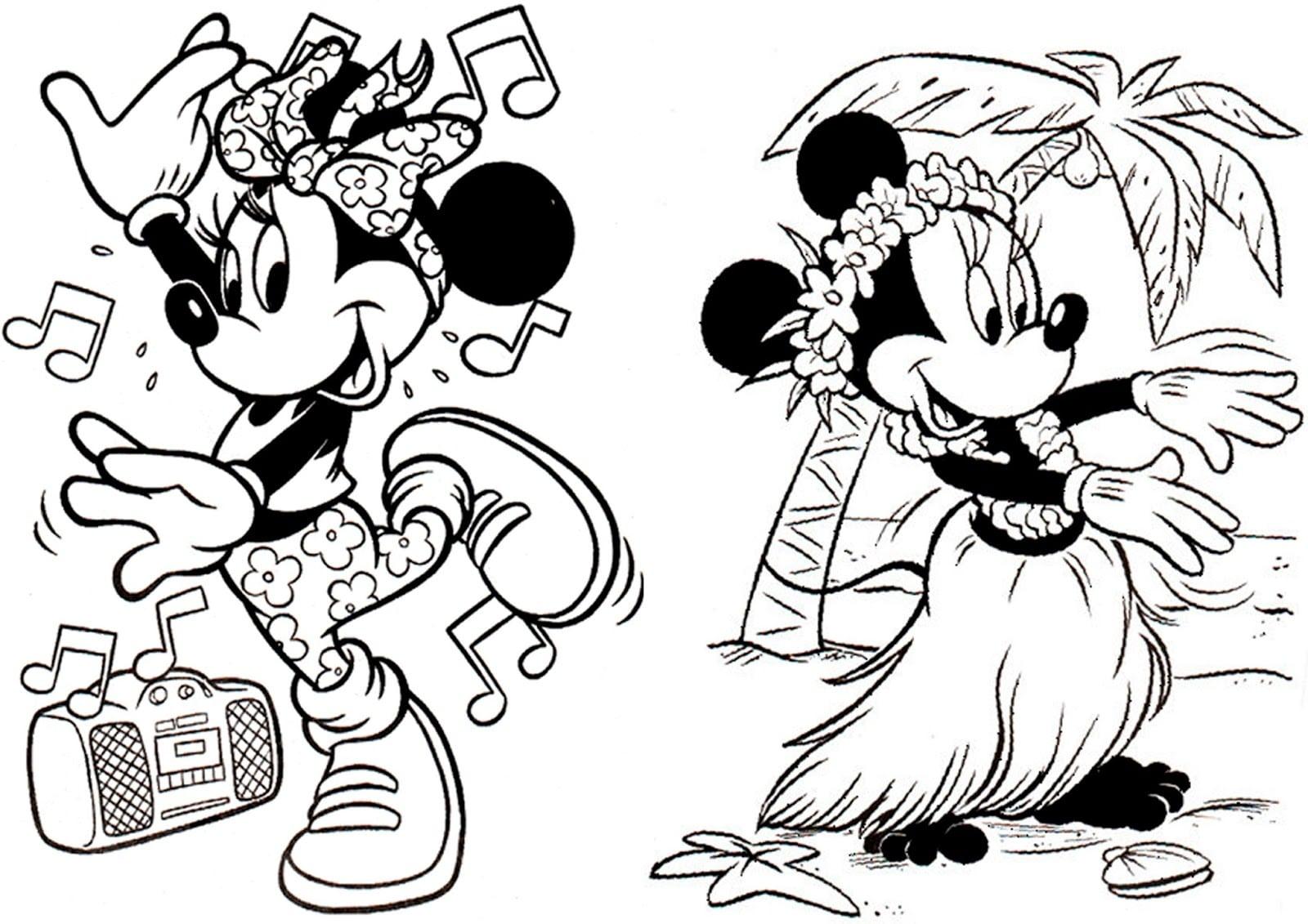 Desenhos Para Pintar Da Minnie