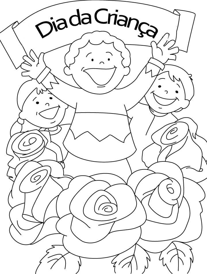 Atividades Para Baixar  Desenhos Para Colorir No Dia Da Criança