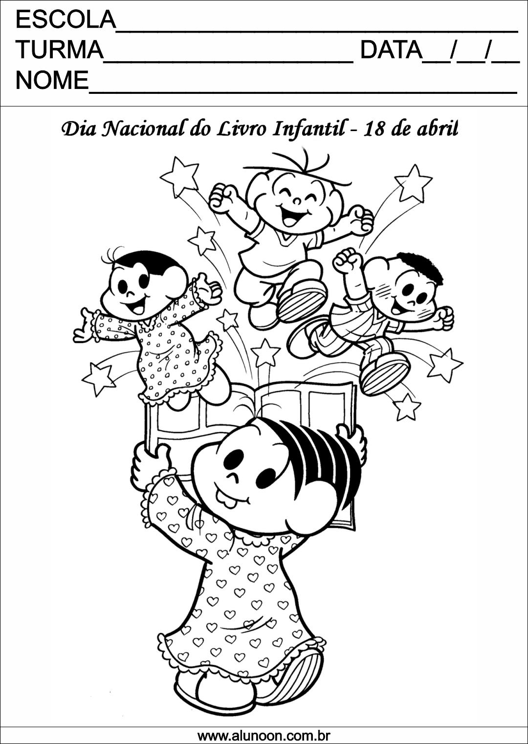 Desenho Para O Dia Do Livro Infantil