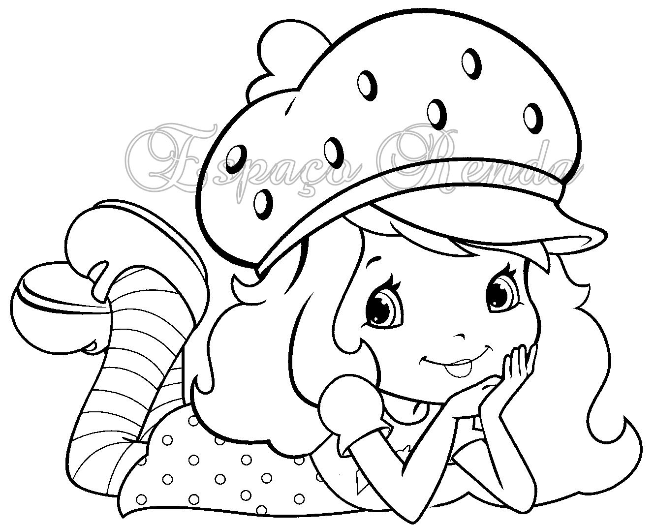 Desenho De Morango Para Colorir