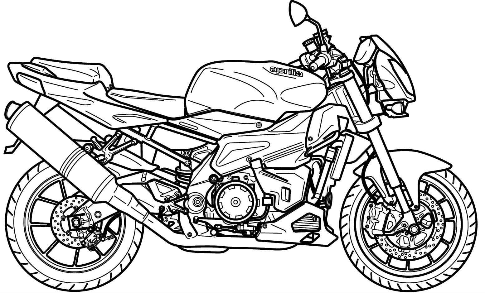 Desenhos Motos Para Colorir