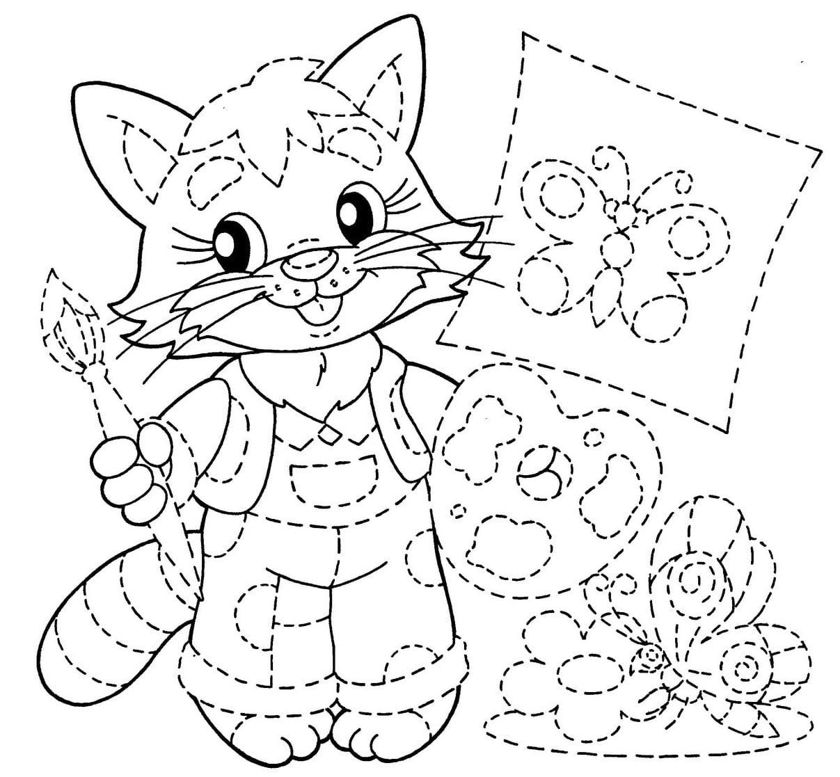Desenhos Pontilhados Para Cobrir E Colorir – Pampekids Net
