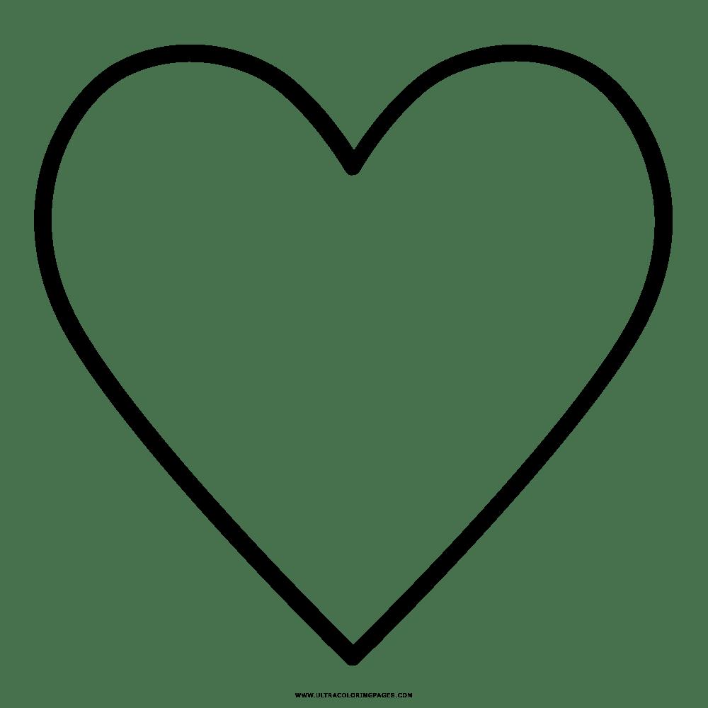Coração Desenho Para Colorir
