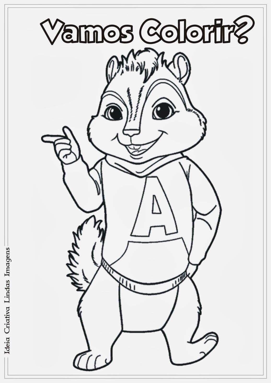 Alvin E Os Esquilos Para Colorir