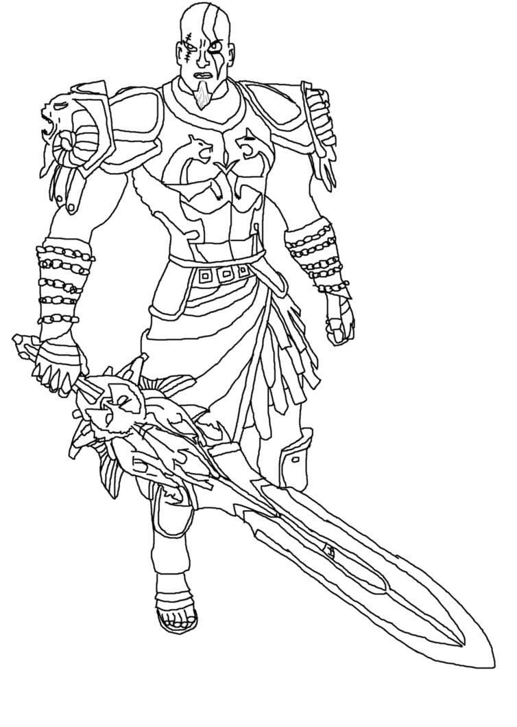 God Of War Para Colorir
