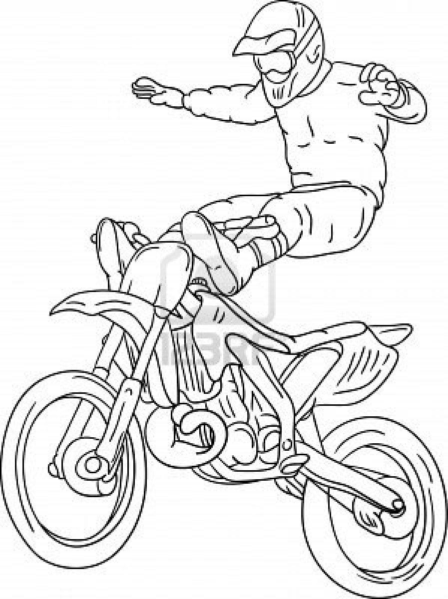 Desenhos De Moto Para Imprimir