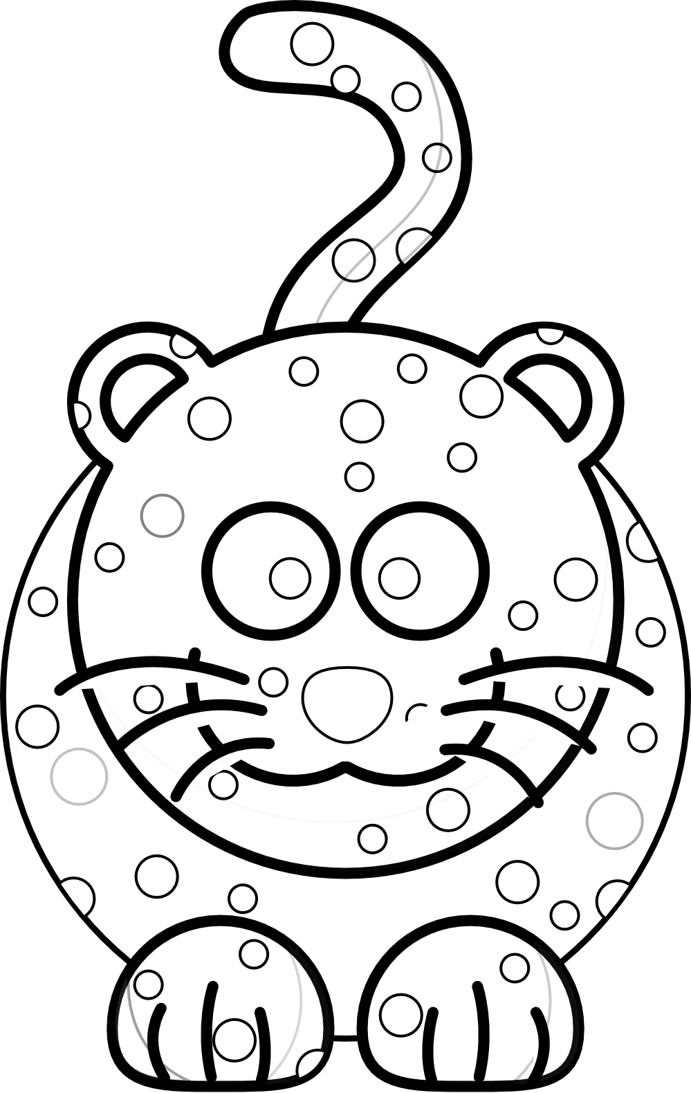 Desenho De On A Pintada Para Colorir – Pampekids Net