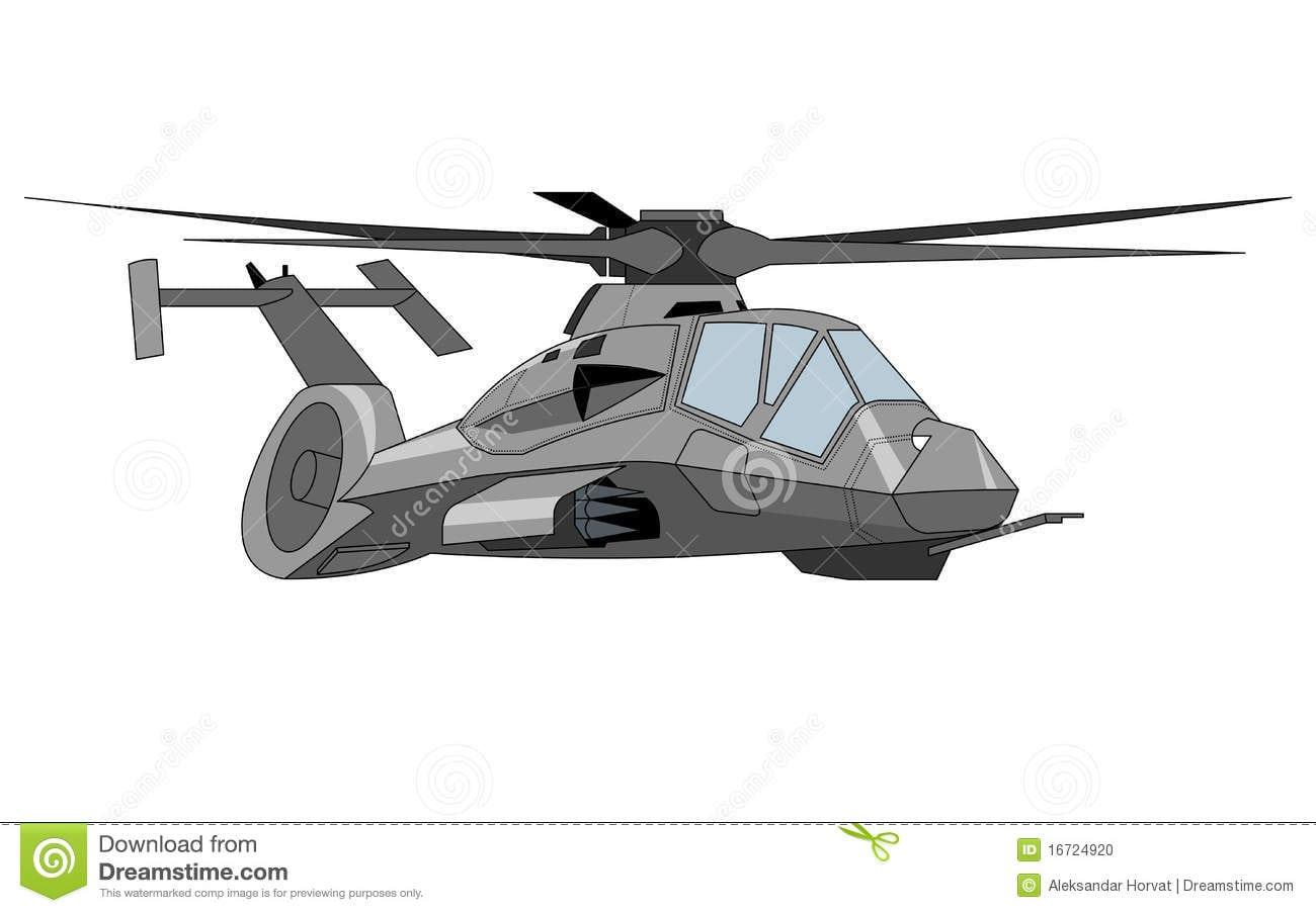 Desenho Do Helicóptero Ilustração Do Vetor  Ilustração De