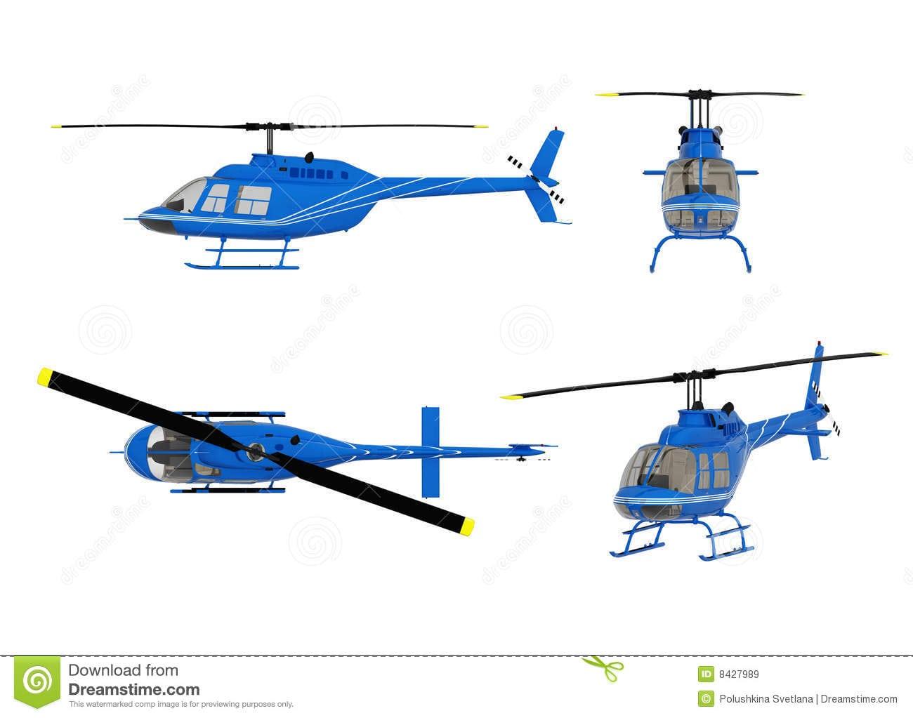 Desenho Da Estrutura Do Helicóptero Ilustração Stock
