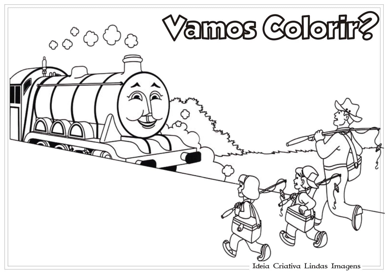 Thomas E Seus Amigos Colorir