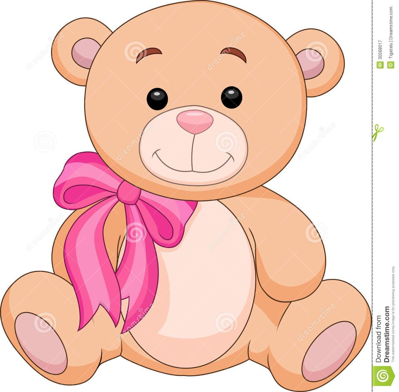 Desenhos Animados Bonitos Do Material Do Urso Marrom Ilustração Do