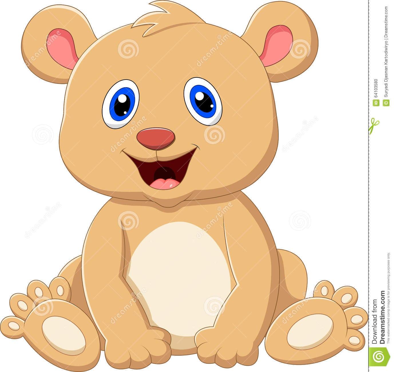 Desenhos Animados Bonitos Do Urso Do Bebê Ilustração Do Vetor