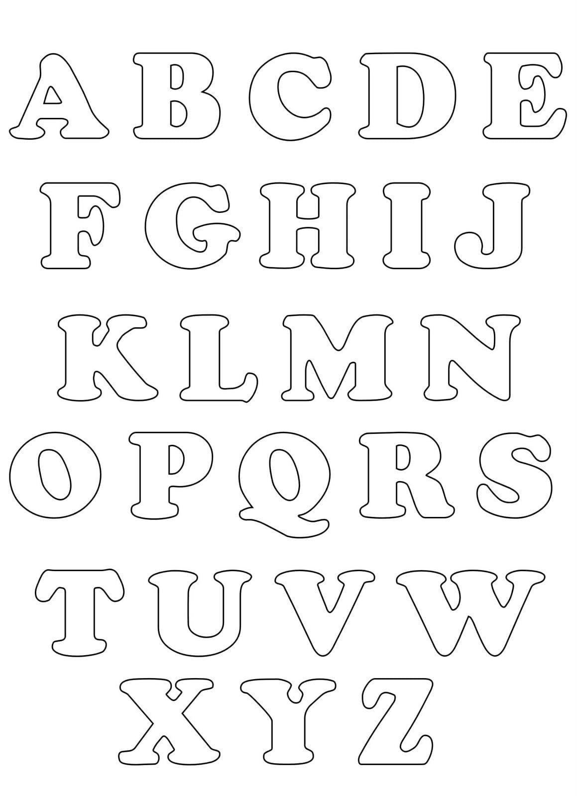Desenhos De Letras Alfabeto Para Colorir