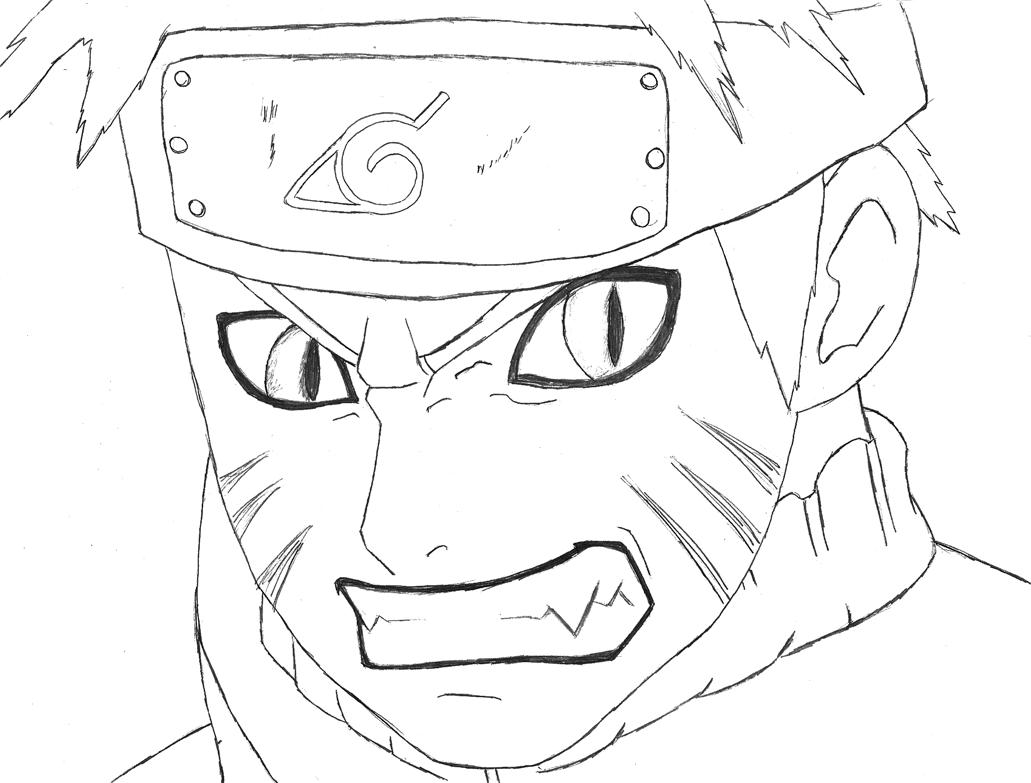 Desenho Para Colorir Naruto