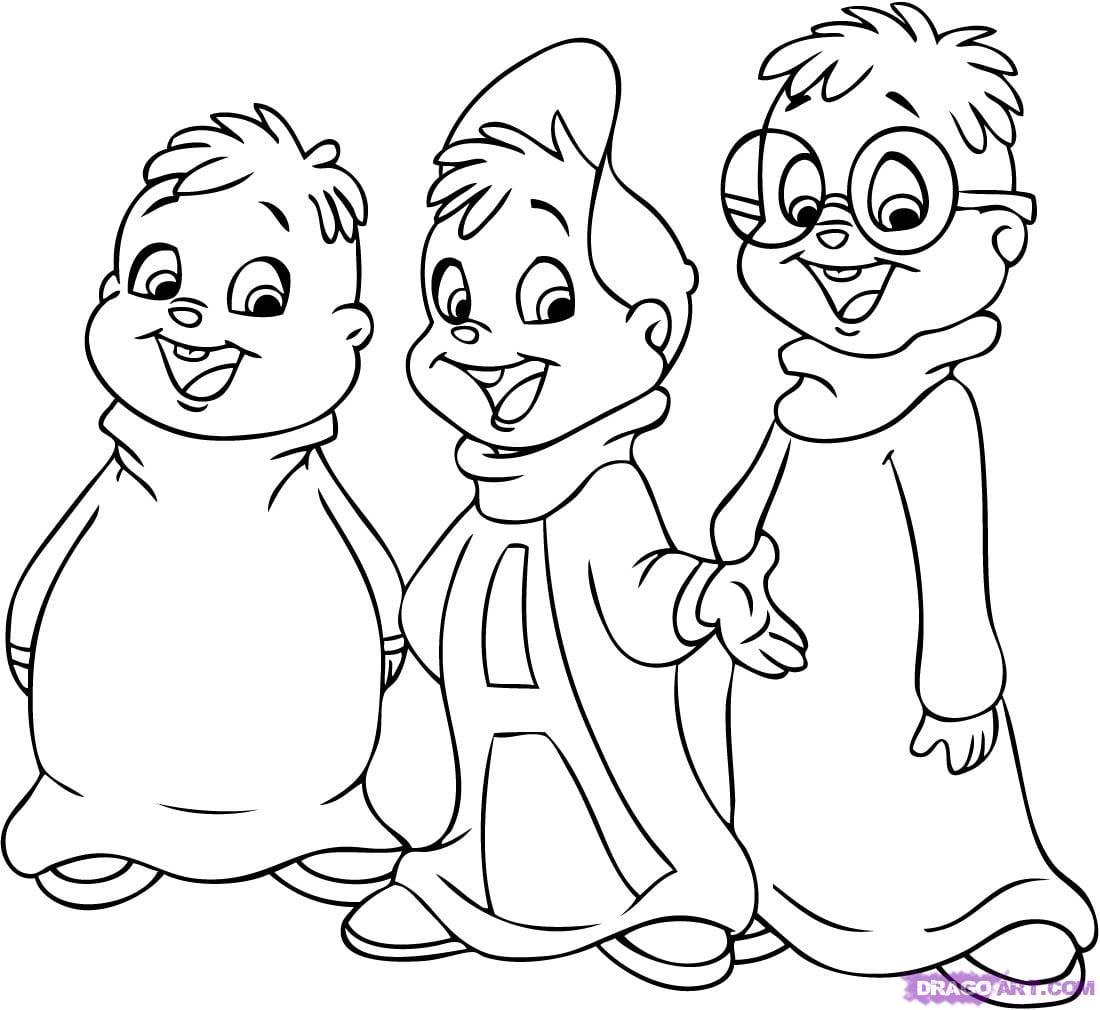 Jogo Desenhos Do Alvin E Os Esquilos Para Colorir E Imprimir