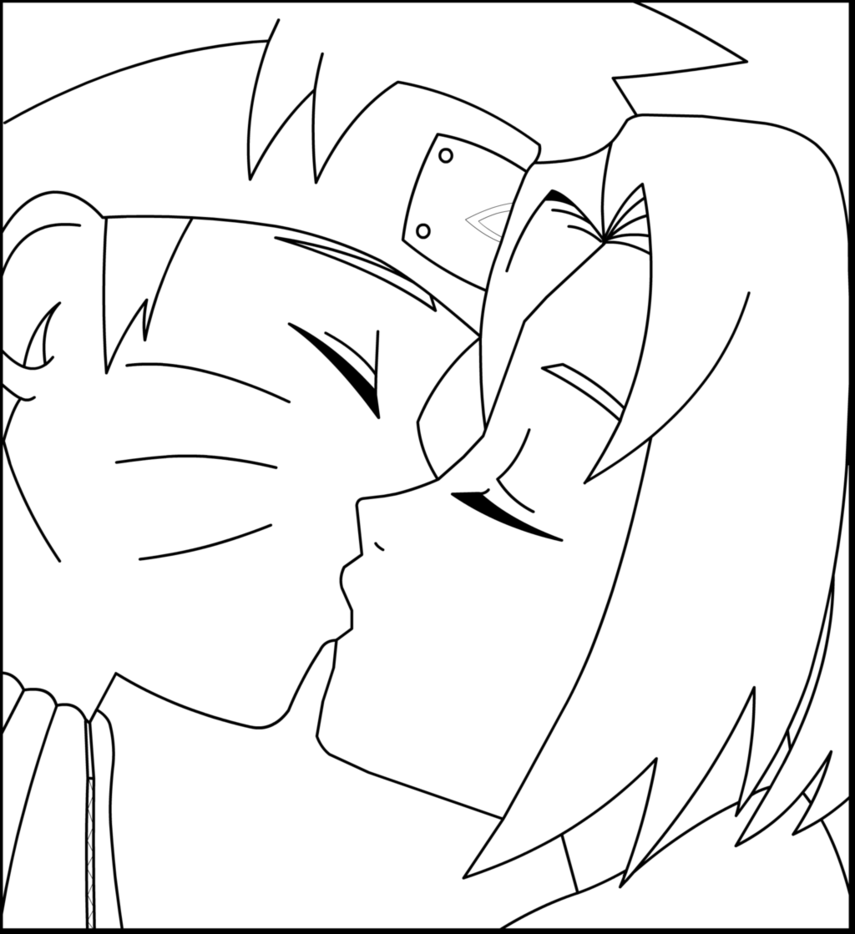 Desenhos Do Naruto E Sakura Sketch Coloring Page – Pampekids Net
