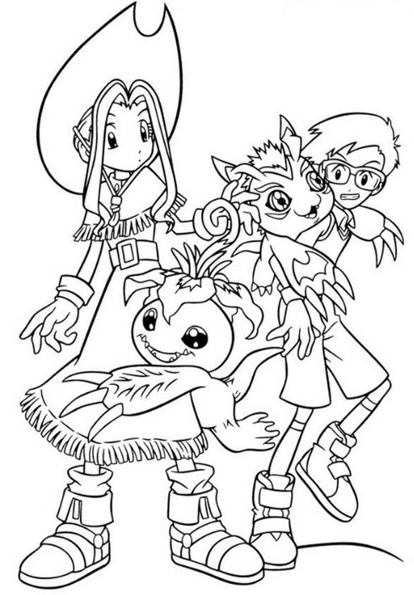 Jogo Desenhos Digimon Para Colorir E Imprimir