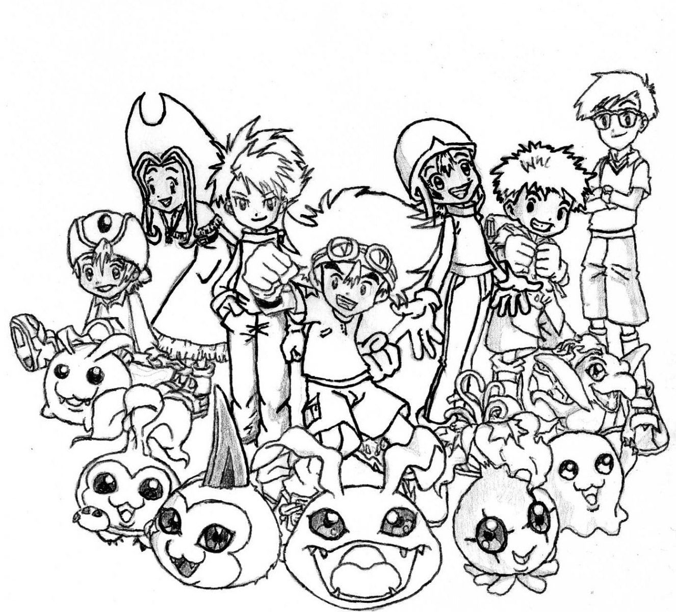 Digimon Para Colorir