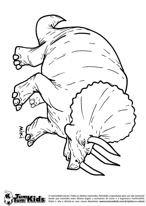 Desenhos De Dinossauro Rei Para Colorir