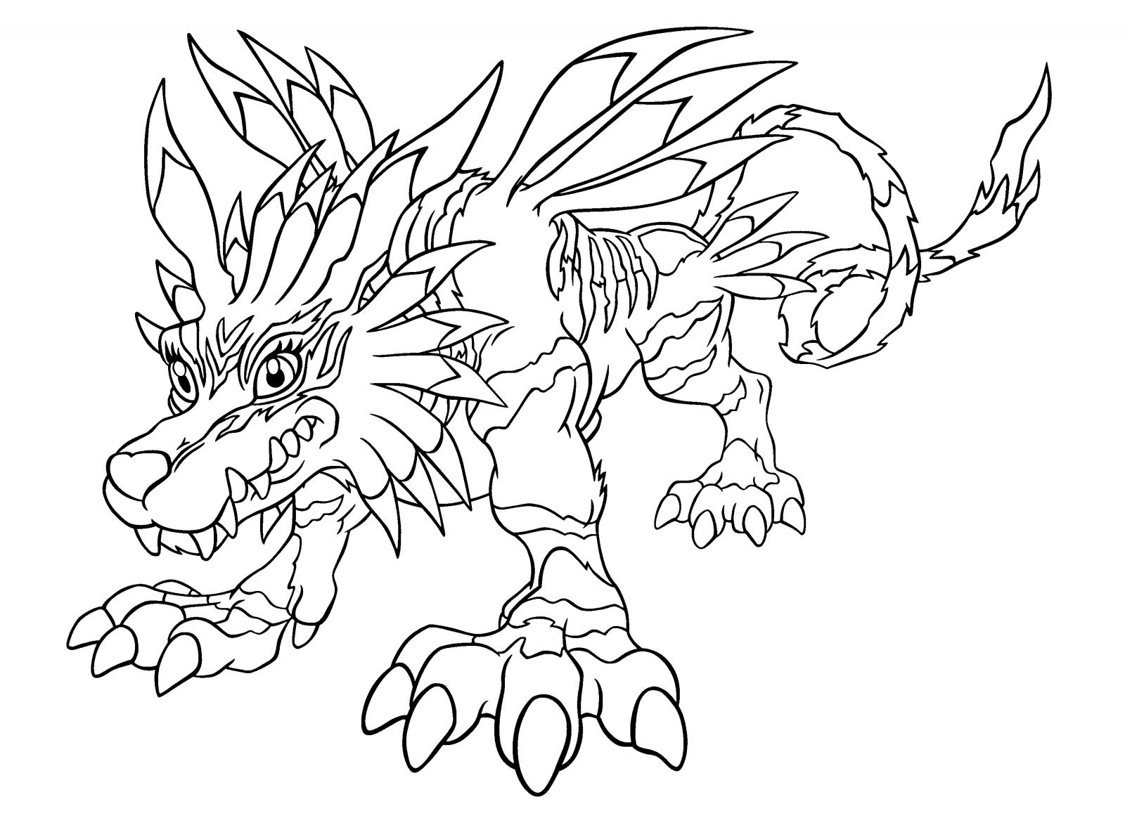 Desenhos Para Colorir De Digimon