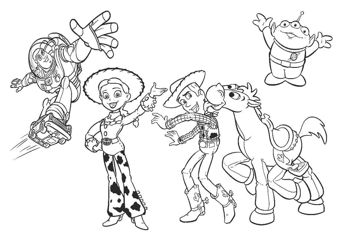 Desenhos Para Pintar Toy Story