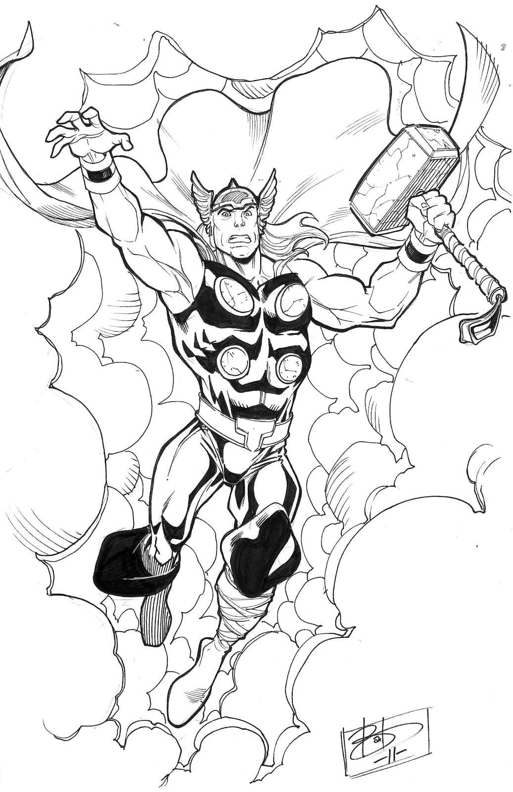 Thor Para Colorir