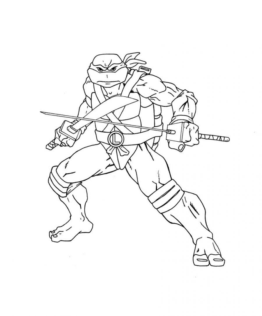 Desenho Tartaruga Ninja Para Colorir – Pampekids Net