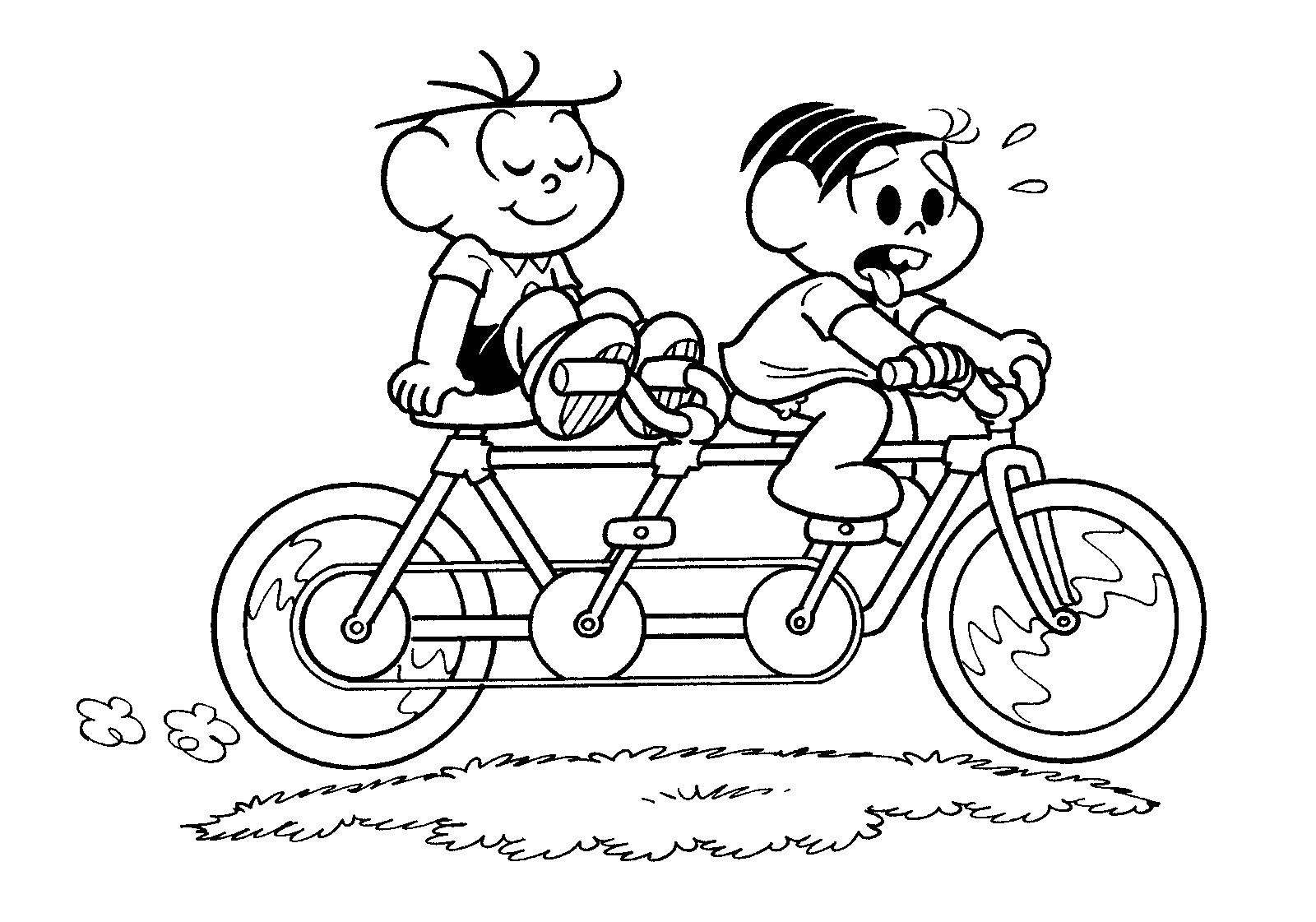 Bicicleta Para Colorir
