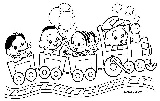 Crianças Para Colorir