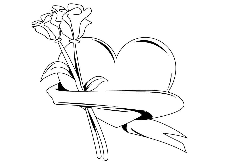 Dibujos Para Colorear De Rosas  Dibujoswiki Com
