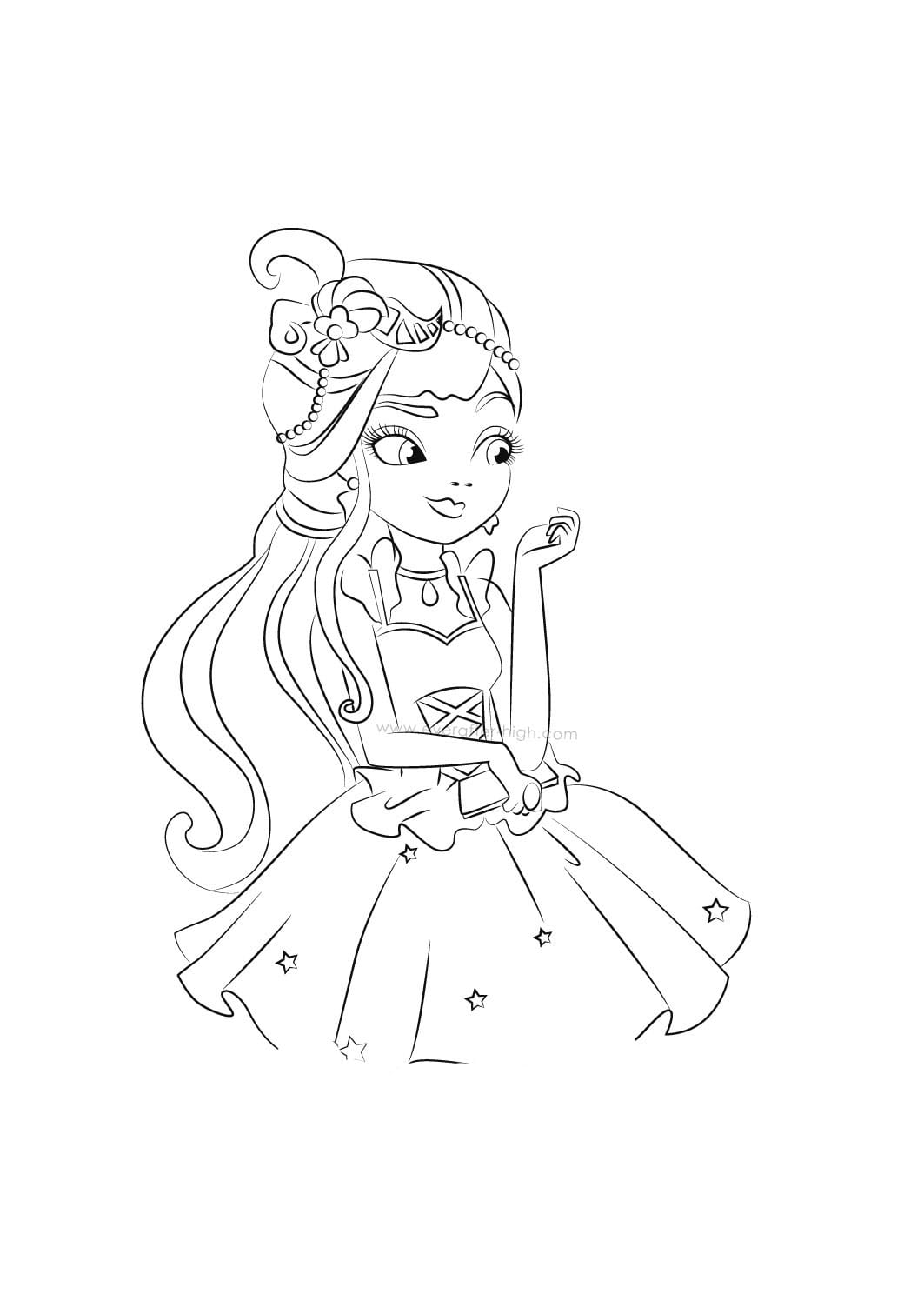 Desenho De Duquesa Swan De Ever After High Para Colorir