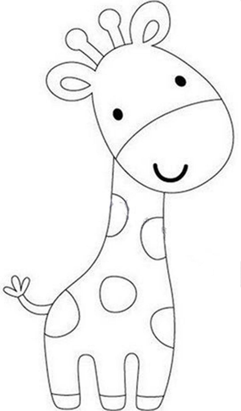 Desenhos Para Colorir Girafa