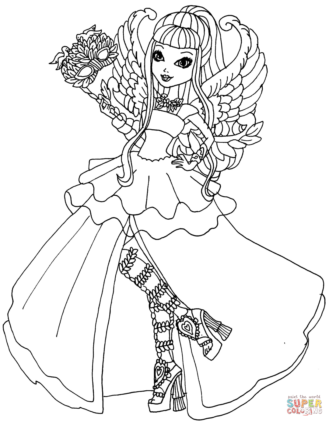 Ever After High C A  Cupid Thronecoming Coloring Page