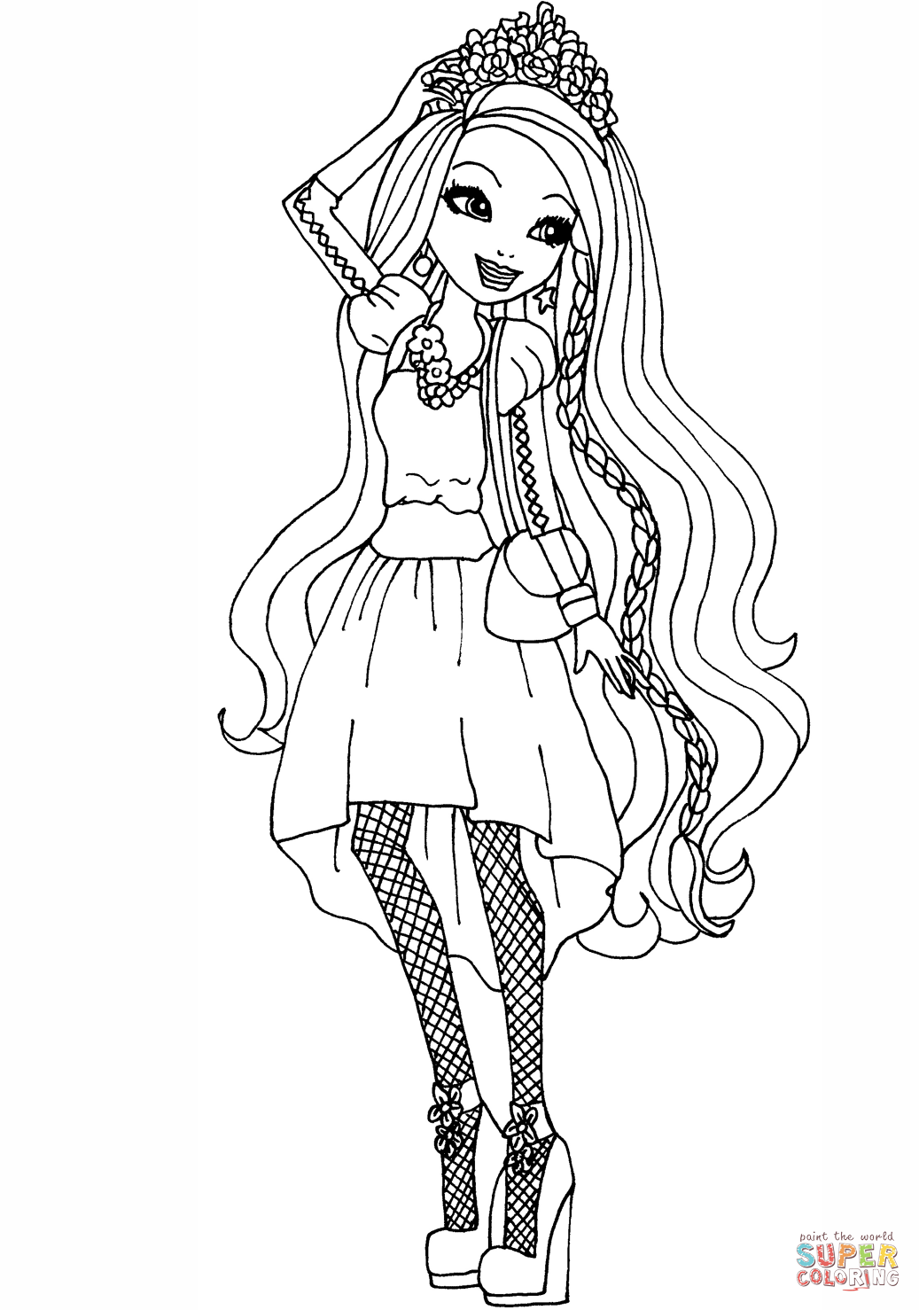 Ever After High Holly O'hair Coloring Page