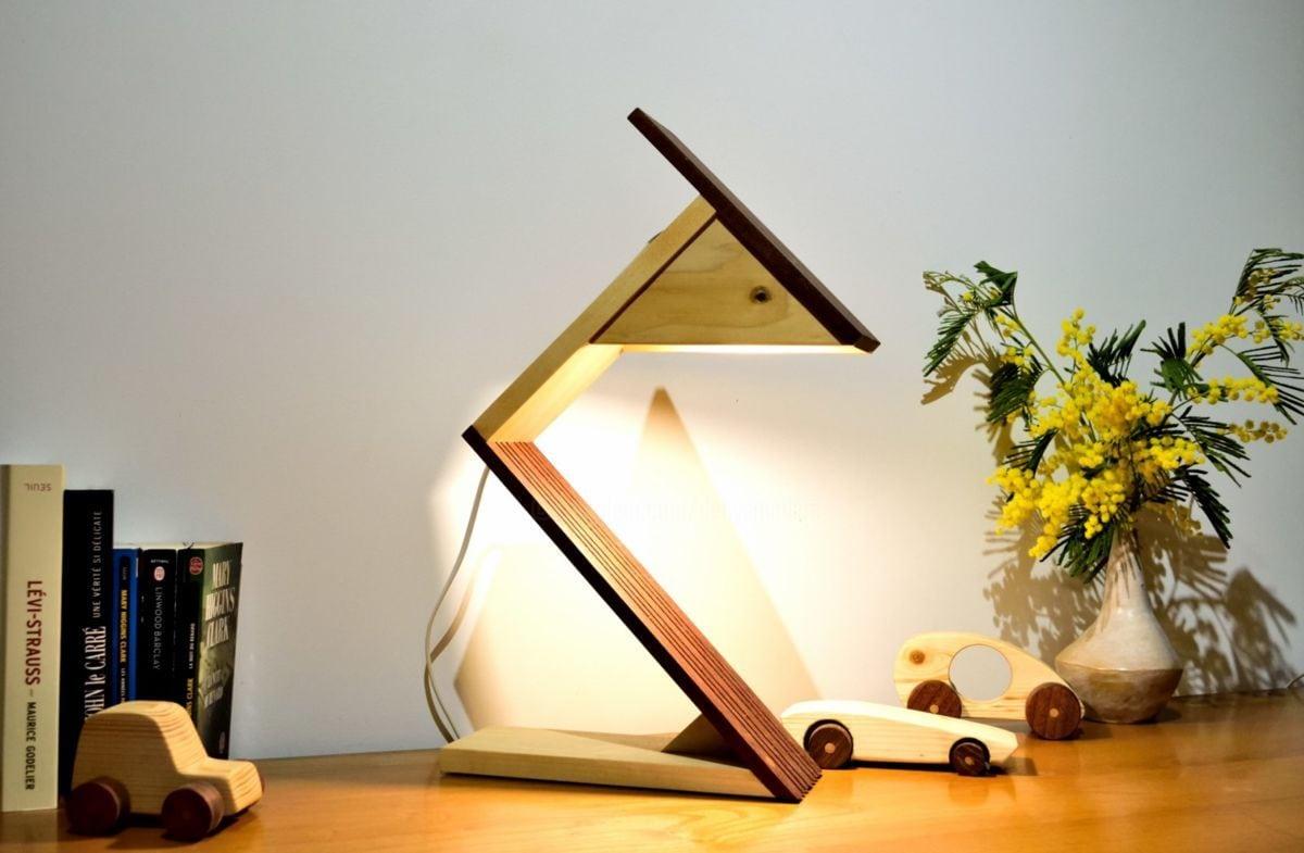Narito (sculpture), 36x50x10 Cm Par Denys Mollard Narito Lampe En