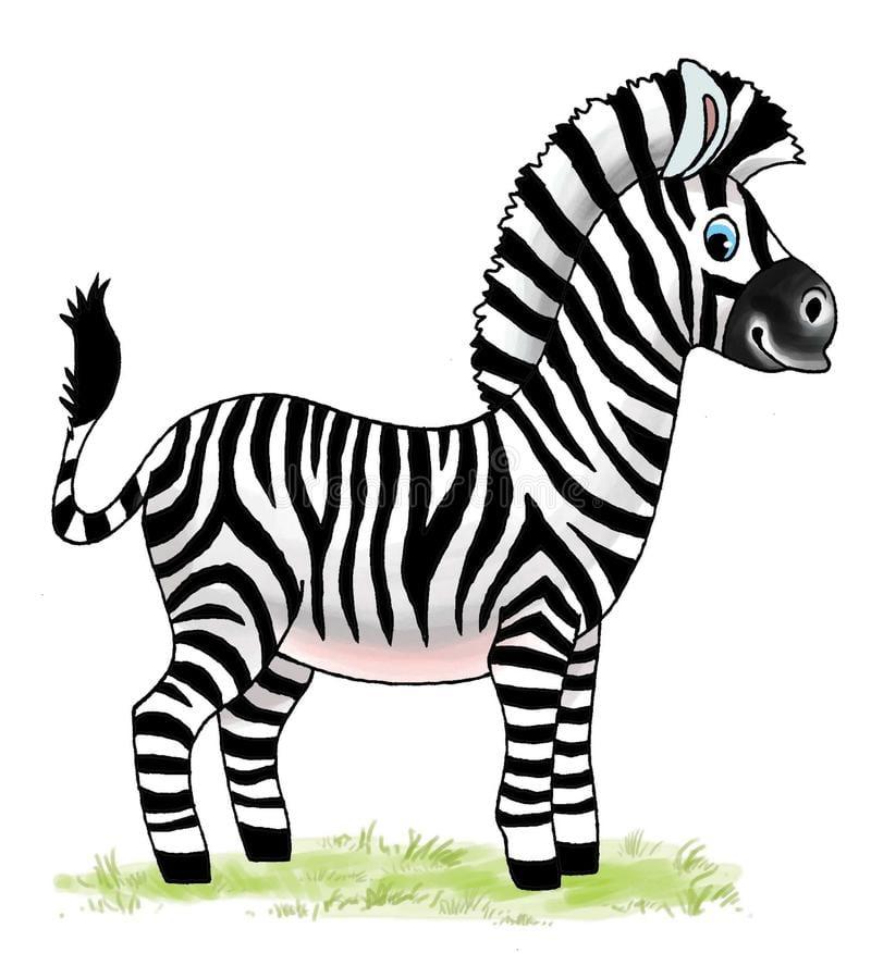 Gestreept Het Beeldverhaalcijfer Van De Paard Afrikaans Dierentuin