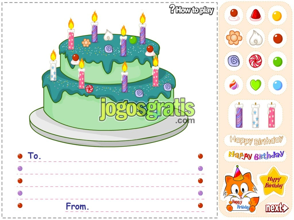 Jogo Happy Birthday Postal
