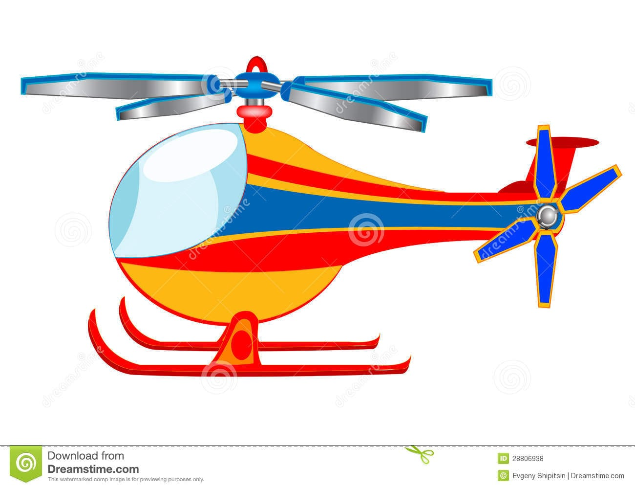 Ilustração Do Helicóptero Dos Desenhos Animados Ilustração Do