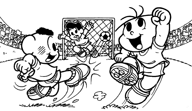 Campo De Futebol Para Colorir