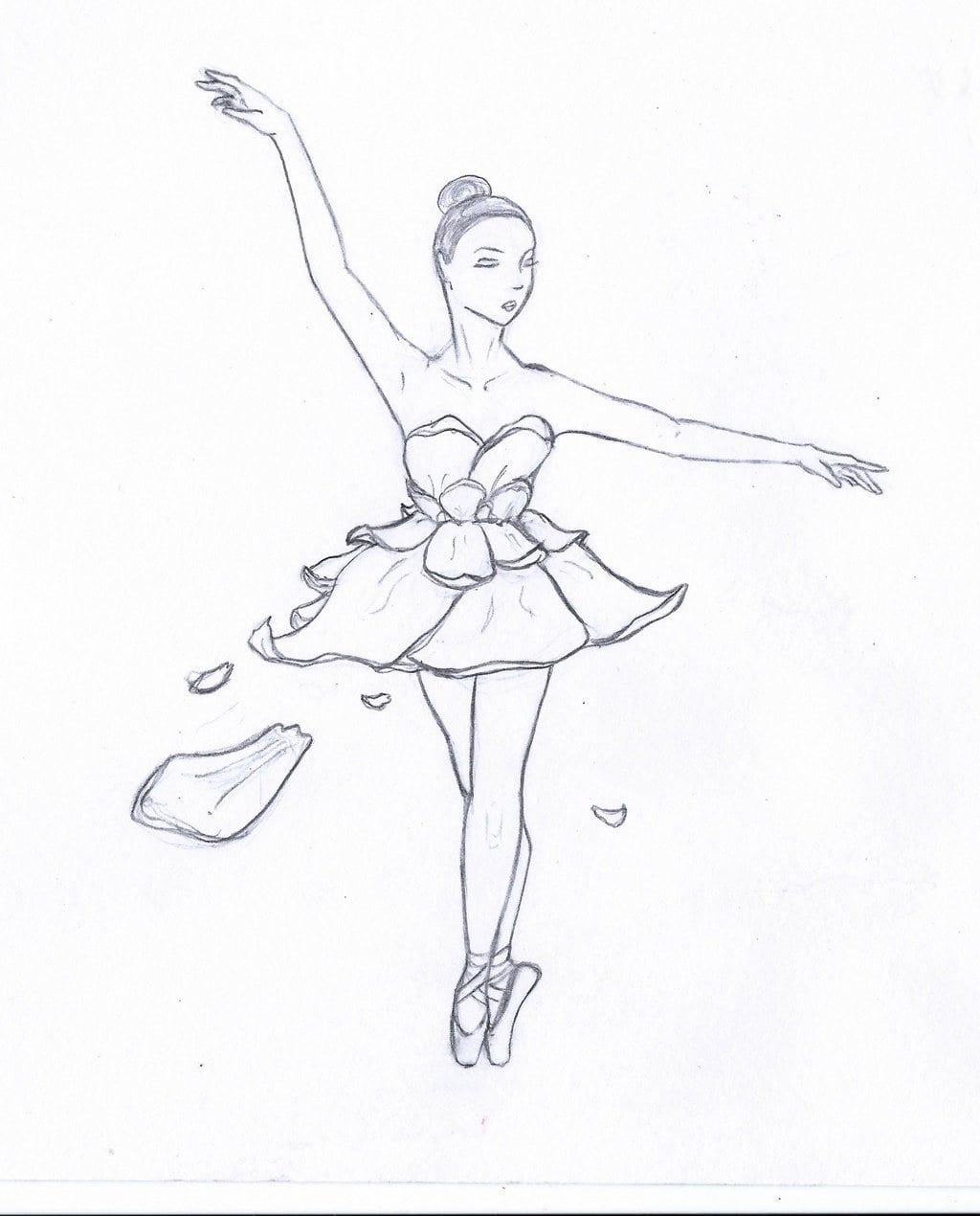 Desenhos De Bailarinas Para Imprimir E Colorir