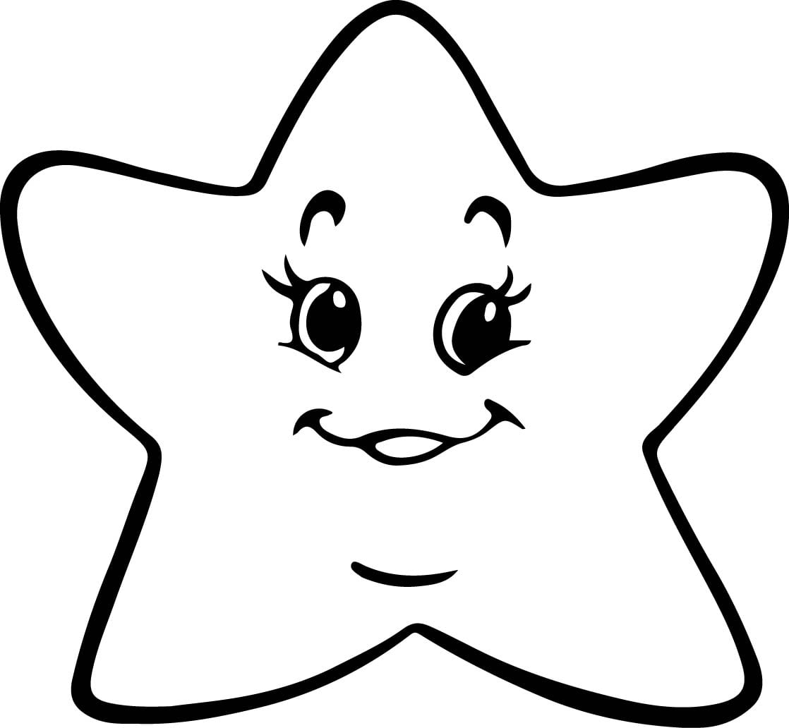 Figura De Estrela Para Colorir