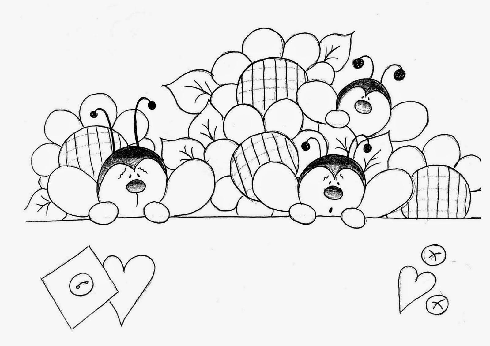 Muitos Moldes E Riscos De Joaninhas, Desenhos De Joaninhas Lindos