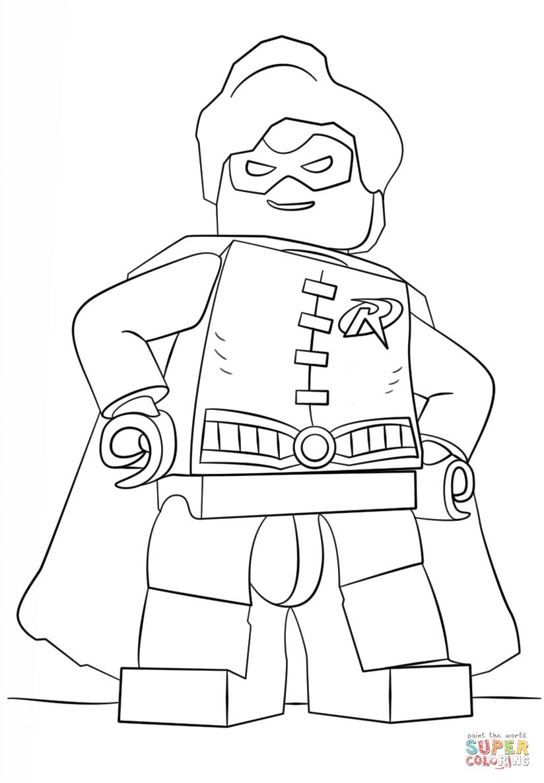 Desenho De Lego Robin Para Colorir