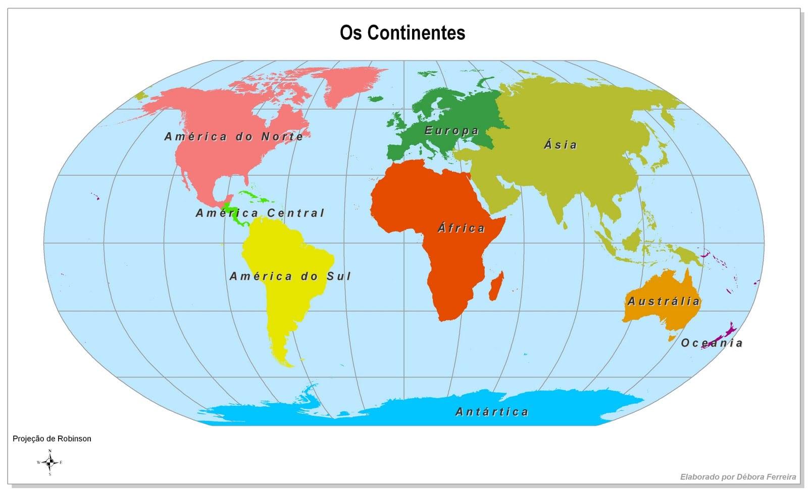 Desenho Mapa Mundi