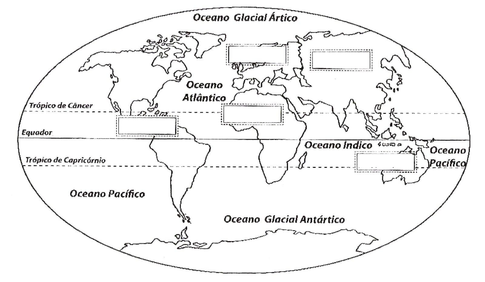 Desenho Do Mapa Mundi Para Imprimir